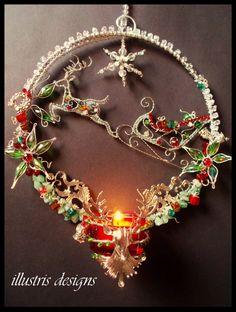 Christmas reindeer candleholder van illustrisdesigns op Etsy