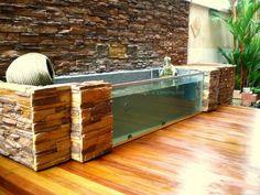 indoor koi pond | Koi pond & sand/bio-filtration system