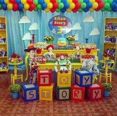 New ideas birthday ideas for boys toy story Fête Toy Story, Toy Story Baby, Toy Story Theme, Toy Story Cakes, 4th Birthday Parties, 1st Birthdays, Birthday Party Decorations, Craft Party, 3rd Birthday
