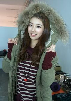 Suzy New cf queen of 2013 Miss A Kpop, Miss A Suzy, Bae Suzy, About Hair, Favorite Person, Kpop Girls, Korean Girl, Canada Goose Jackets, Girl Group