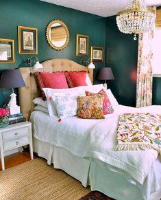 55+ Incredible Eclectic Master Bedroom Design Ideas - Page 9 of 56 #incrediblebedroom Home Bedroom, Bedroom Decor, Master Bedrooms, Light Bedroom, Glam Bedroom, Bedroom Ideas, Bedroom Inspiration, Headboard Ideas, Emerald Bedroom