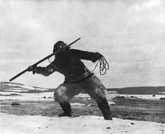 Inuit man - circa 1920 — with Richard Adams.