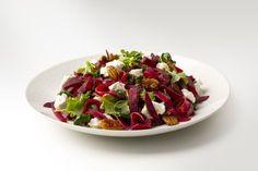 Fettucine de beterave, kale et chèvre Weight Watchers Points, Vinaigrette, Kale, Cabbage, Vegetables, Cooking, Food, Beets, Main Course Dishes