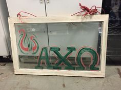 DIY Painted Window Pane. Great for Decorating!
