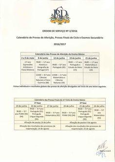 Calendário de Exames 16/17 - 1/2