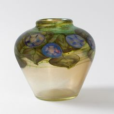 "Tiffany Studios New York ""Morning Glory"" Paperweight Vase, Macklowe Gallery NYC."