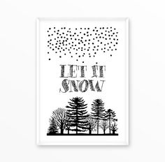Laat het sneeuw druk, Christmas posters, zeggende: Nicolaas, Kerstman, kunst, afdrukken, poster, zeggende: offerte, Scandinavische druk, Scandinavië, motivatie, inspiratie, typografie, digitale download, muur kunst vintage, grunge poster, afdrukbare, direct download, sneeuw, bos, geschenk, Scandinavische druk, Scandinavië  Digitale print in zeer hoge kwaliteit met volledige resolutie van 300 dpi in JPG-formaat. Dit is een digitaal bestand en geen fysieke artikelen worden geleverd.  Hoe het…