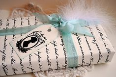 handmade Jane Austen wrapping paper! this is sooo cool! give someone a jane austen book(or any book) and wrap it in this???? Awesome!