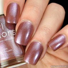 Bright Summer Acrylic Nails Discover Red Brown Nail Polish and Red Blue Violet Chameleon Glitter Shimmer Essie Nail Polish Colors, Brown Nail Polish, Brown Nails, Nail Colors, Red Nail, Red Polish, Blue Nail, Short Nail Designs, Nail Art Designs