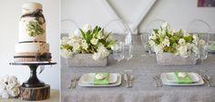wedding cake and table decor
