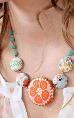 Cute button statement necklace