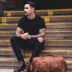 Men in black color inspiration Follow... | MenStyle1- Men's Style Blog