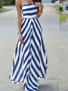 Social Hour Striped Maxi Dress
