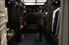 Neal Caffrey's Closet in White Collar. LOVE the skylight