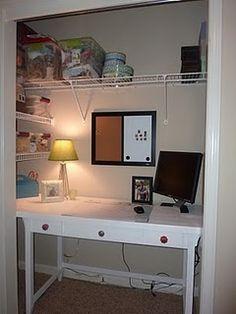Coat Closet Turned Computer Room On Pinterest