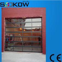 polycarbonate or glass garage door/garage door safety glass garage door/insulated glass overhead door