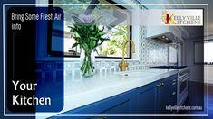 Make your kitchen stylish, classy yet airy that can refresh your mood. get expert's help to decorate your kitchen. Call us for more details @ (02) 9629 4411 our website: www.kellyvillekitchens.com.au #kitcheninterior #kitchenmakeover #sydney #modernmolulerkitchen #australia Kitchen Interior, Sydney, Bring It On, Classy, Australia, Mood, Fresh, Make It Yourself, Website