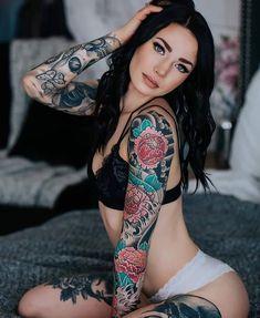Hot Tattoos, Girl Tattoos, Tattoos For Women, Tattooed Women, Tattoed Girls, Inked Girls, Calgary Tattoo Artists, Lifestyle Newborn Photography, Boudoir Poses