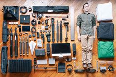 "Things Organised Neatly: A Man & His Tools | Inspires me to do something similar and see what my ""tools"" are, also perhaps a series on ""My Favourite Things"" to see what I value"