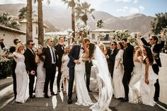 Exclusive: Nicole Trunfio and Gary Clark Jr. Are Married! See Photos of Their Stunning Rocker-Chic Wedding in Palm Springs Slip Wedding Dress, Elegant Wedding Dress, Wedding Dresses, Bride Dresses, Party Dresses, Chic Wedding, Spring Wedding, Wedding Pictures, Pool Wedding