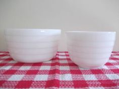 Pyrex for Westinghouse Milk Glass beehive mixing bowls