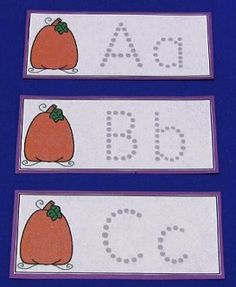 Pumpkin letter tracing