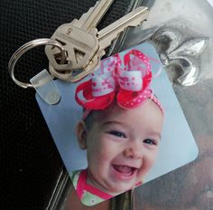 Personalized Key Chain- make using paint/countertop samples!