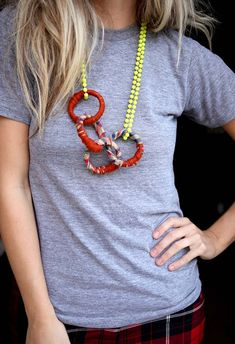 DIY Necklace Ideas - Shower Curtain Rings Necklace - Pendant, Beads, Statement, Choker, Layered Boho, Chain and Simple Looks - Creative Jewlery Making Ideas for Women and Teens, Girls - Crafts and Cool Fashion Ideas for Teenagers http://diyprojectsforteens.com/diy-necklaces