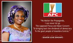 Last Minute Change of Mind|Senator Uche Ekwunife defects to APC