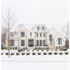 "22 Likes, 1 Comments - Mrs.Paranjape Design+Interiors (@mrsparanjape) on Instagram: ""How does @sherwinwilliams Shoji White look in the snow? Dreamy! 