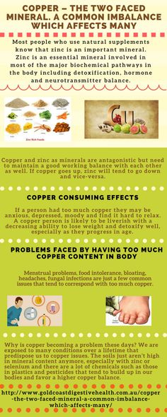 COPPER – THE 2 FACED MINERAL. A common imbalance which affects many #Infographics
