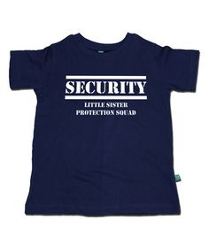 This Navy 'Security' Tee - Infant, Toddler, Boys & Men is perfect! #zulilyfinds