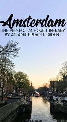 The perfect itinerary for 24 hours in Amsterdam by a resident with the best things to do in 1 day in Amsterdam & the best food in #Amsterdam! #Netherlands