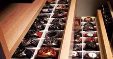 DIY Watch Drawer Watch Organizer, Watch Storage, Watch Box, Watch Case, How To Make Watch, Nightstand, Dresser, Watch Drawing, House Bar