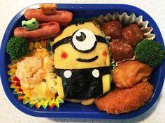 ☆キャラ弁☆ミニオン オムライスの画像 Sushi For Kids, Bento Kids, Bento Recipes, Baby Food Recipes, Vegan Meal Prep, Vegan Kitchen, Food Decoration, Creative Food, Kids Meals