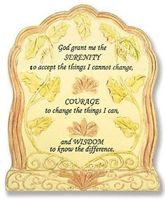 Serenity Prayer Plaque - Serenity Prayer Carved Into This Desktop Sign - Inspirational Plaques - Religious Plaques