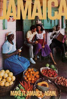 Date: ca 1970 DP Vintage Posters - Make It Jamaica Again Original Travel Poster