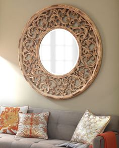 Circular Scrollwork Mirror at Horchow.