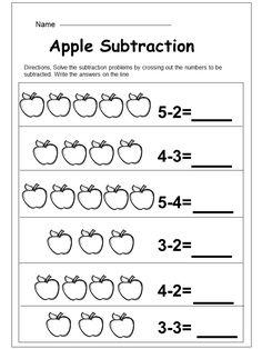 Free Kindergarten Subtraction Printable