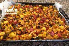 Fırında Karışık Kızartma Tarifi +kabak/mantar/köfte/tavuk göğsu/et