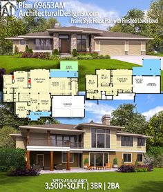 Architectural Designs House Plan 69653AM | 3BR | 2BA | 3,500+SQ.FT. | Ready when you are. Where do YOU want to build? #69653am #adhouseplans #architecturaldesigns #houseplan #architecture #newhome  #newconstruction #newhouse #homedesign #dreamhome #dreamhouse #homeplan  #architecture #architect #northwest #prairie