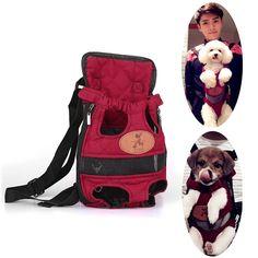Foldable Fashion Pet Dog Carrier Backpack Dog Carrier Bag Travel Breathable Outdoor Shopping Dog Bag two Shoulders Straps