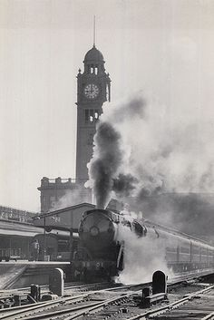 Locomotive - Class C3801,at Central Railway Station,Sydney, 1954 by State Records NSW, via Flickr