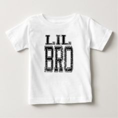 Lil Bro Baby T-Shirt - baby gifts child new born gift idea diy cyo special unique design