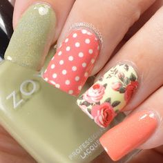 KBShimmer Coral Cream Plaid Floral Water Slide Decals