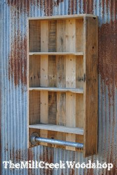 DIY Wood Working projects: Items similar to Reclaimed Pallet Wood Bathroom Sh...