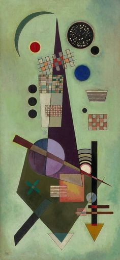 "Wassily Kandinsky ""Extended"", 1926 Oil on Panel"
