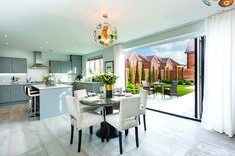 Bovis Homes build some of the best new homes in the UK that are great places to live. Stunning new homes and apartments for sale right now. New Homes For Sale, Property For Sale, Dining Area, Kitchen Dining, Bovis Homes, Separating Rooms, Built In Wardrobe, Room Dimensions, Open Plan Kitchen