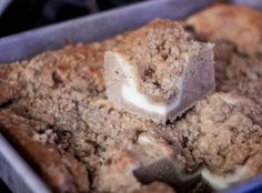 Rich and delicious cinnamon cream cheese coffee cake. Could be bleck or epic