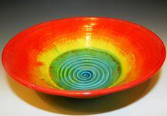 Sunsetovertheocean bowl wheel thrown by MarkCampbellCeramics, $45.00